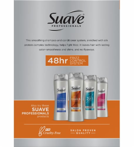 Suave® Ultra Sleek & Smooth Frizz Control Shampoo & Conditioner Perspective: back