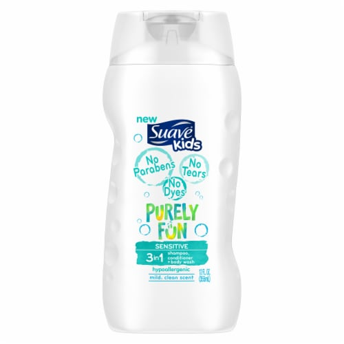 Suave Kids Purely Fun Sensitive 3 in 1 Shampoo Conditioner and Body Wash Perspective: back