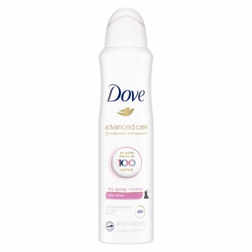 Dove Invisible Dry Spray Clear Finish Antiperspirant Deodorant Perspective: back