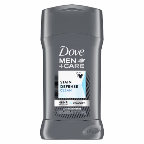 Dove Men + Care Stain Defense Clean Invisible Solid Antiperspirant Stick Perspective: back