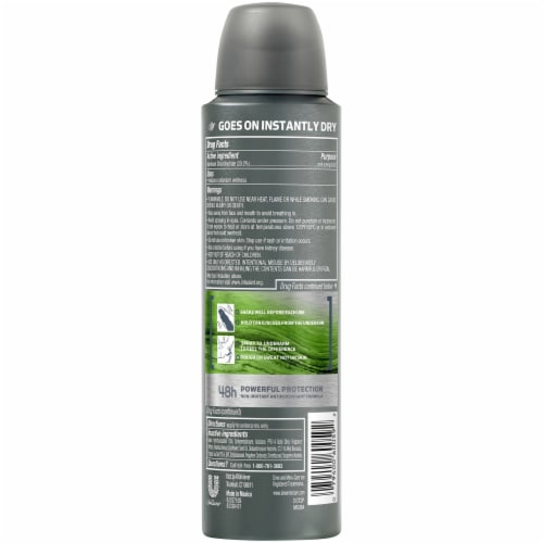 Dove Men+Care Aluminum-Free 48-Hour Protection Lime & Sage Antiperspirant Deodorant Dry Spray Perspective: back