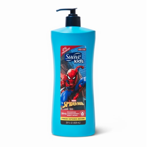 Suave® Kids Marvel Spider-Man Fresh Spider-Sense 3in1 Shampoo Conditioner Body Wash Perspective: back
