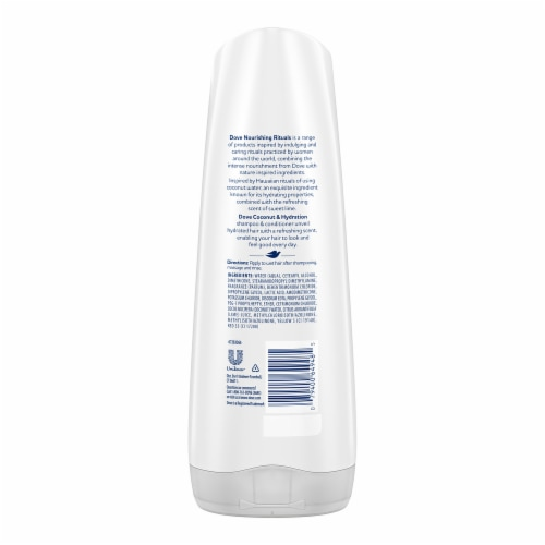 Dove Nutrive Solutions Coconut & Hydration Conditioner Perspective: back
