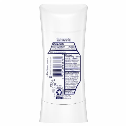 Dove Advanced Care Lavender Fresh Antiperspirant Invisible Solid Stick Perspective: back
