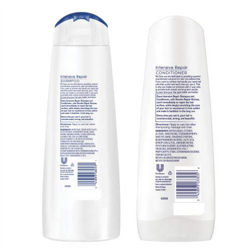 Dove Intensive Repair Shampoo & Conditioner Perspective: back