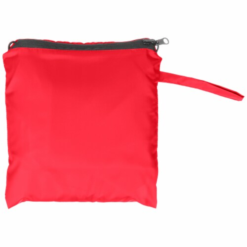 Totes Women's Signature Reversible Rain Poncho - Red Perspective: back