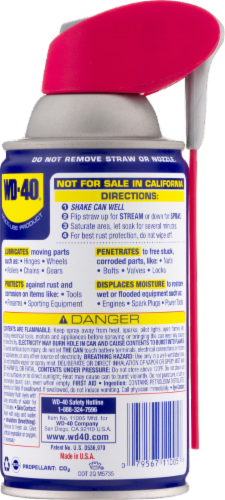WD-40® Smart Straw Lubricant Spray Perspective: back
