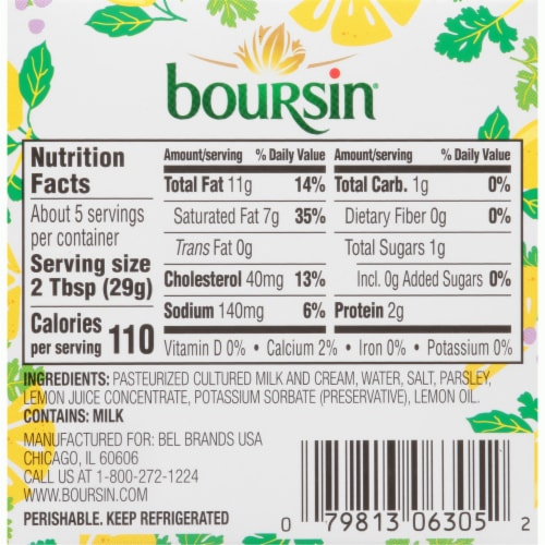 Boursin® Parsley and Lemon Gournay Cheese Perspective: back