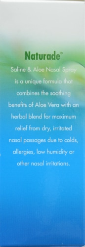 Naturade Non Medicated Nasal Spray Saline And Aloe Gently Moistu Perspective: back