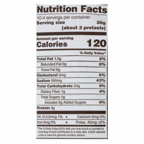 Unique Pretzels - Pretzels - Extra Salt Splits - Case of 12 - 11 oz. Perspective: back