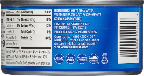 StarKist Solid White Albacore Tuna in Water Perspective: back