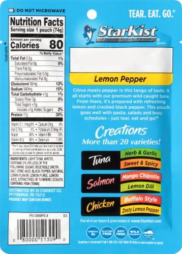 StarKist Tuna Creations Lemon Pepper Seasoned Tuna Perspective: back