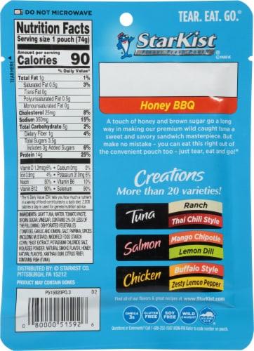 StarKist® Tuna Creations® Gluten Free Honey BBQ Seasoned Tuna Perspective: back
