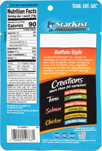 StarKist Chicken Creations Bold Buffalo Style Chicken in Sauce Perspective: back