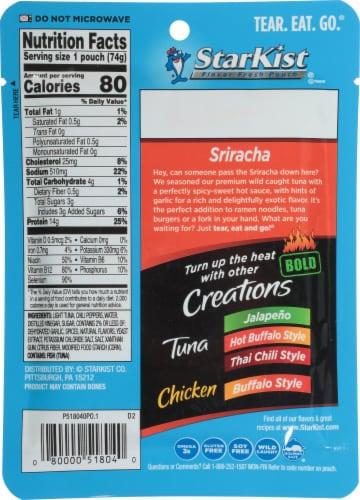 StarKist Bold Sriracha Tuna Creations Perspective: back
