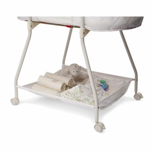 Delta Children Infant Deluxe Sweet Beginnings Baby Bedside Bassinet, Turtle Dove Perspective: back