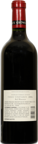 Hedges Family Estate Red Mountain Wine Perspective: back