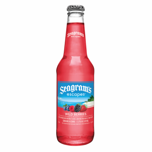 Seagram's Escapes Wild Berries Malt Beverage Perspective: back
