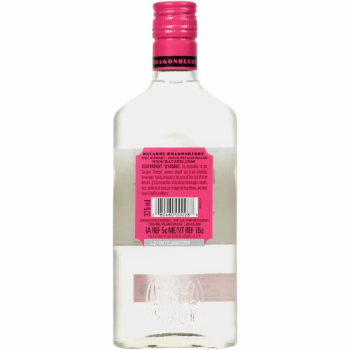 Bacardi Dragonberry Rum Perspective: back