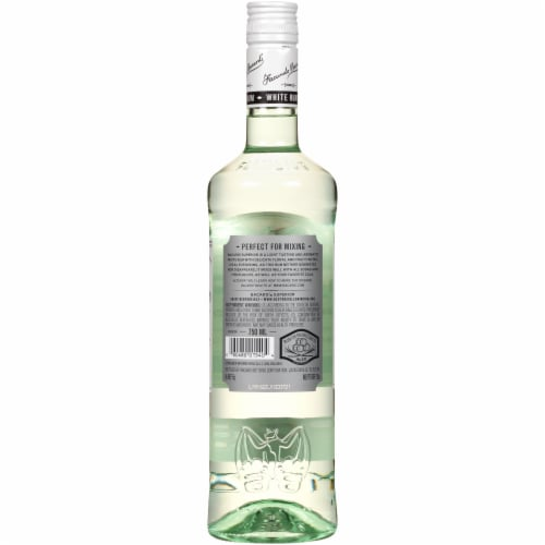 Bacardi Superior Puerto Rican White Rum Perspective: back