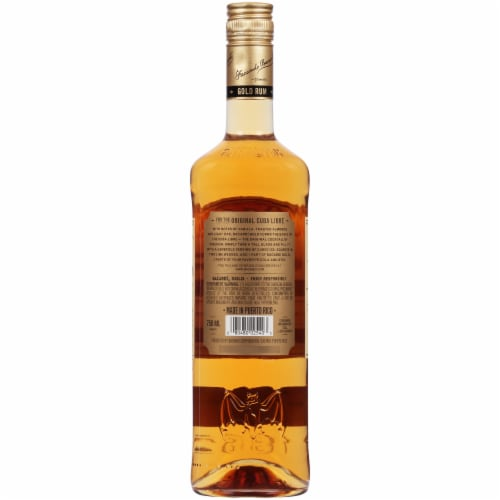 Bacardi Gold Puerto Rican Rum Perspective: back