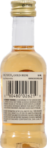 Bacardi Gold Rum Perspective: back