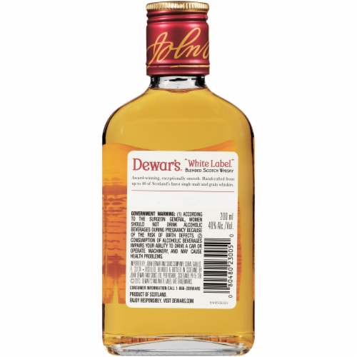 Dewar's White Label Blended Scotch Whisky Perspective: back