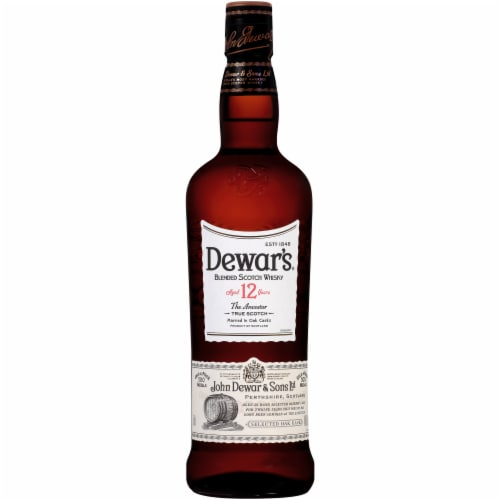 Dewar's The Ancestor 12 Year Blended Scotch Whisky Perspective: back