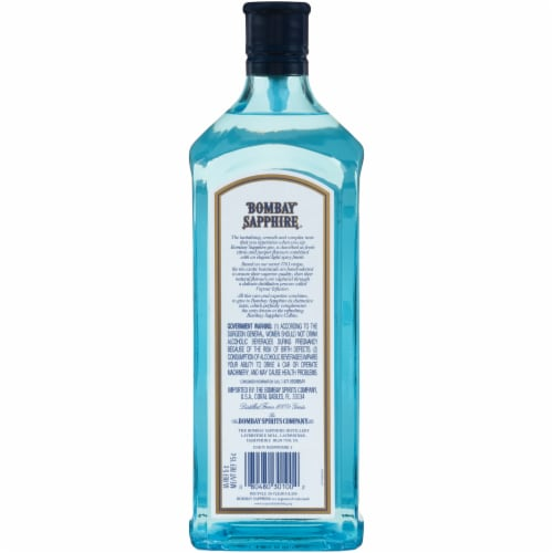 Bombay Sapphire London Dry Gin Perspective: back