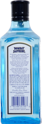 Bombay Sapphire Gin Perspective: back