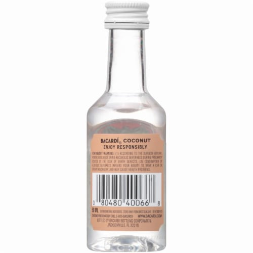 Bacardi Coconut Rum Perspective: back