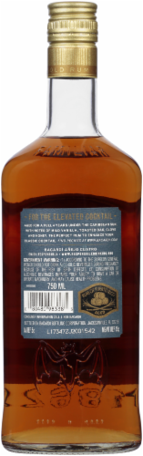 Bacardi Anejo Cuatro 4 Years Aged Gold Rum Perspective: back