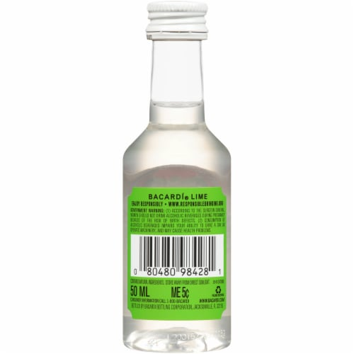 Bacardi Lime Rum Perspective: back