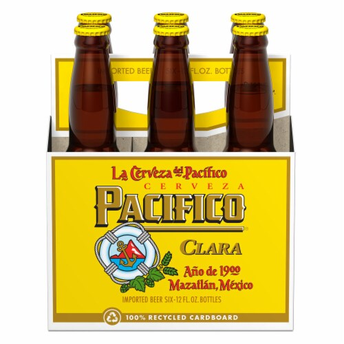 Pacifico Clara Imported Beer Perspective: back