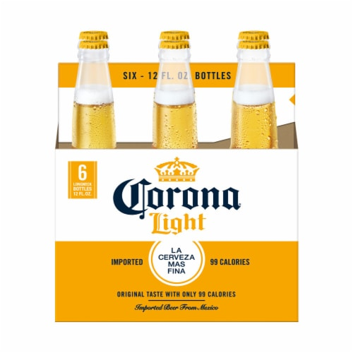Corona Light Mexican Lager Beer Perspective: back