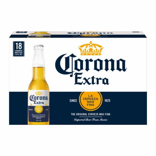 Corona Extra Lager Beer Perspective: back