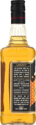Jim Beam Honey Kentucky Straight Bourbon Whiskey Perspective: back