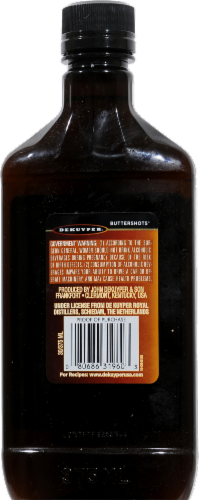 DeKuyper Buttershots Schnapps Liqueur Perspective: back
