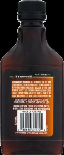 DeKuyper Buttershots Butterscotch Schnapps Liqueur Perspective: back