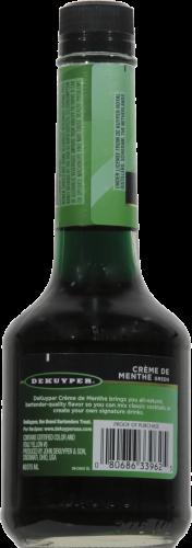 DeKuyper Crème De Menthe Green Liqueur Perspective: back
