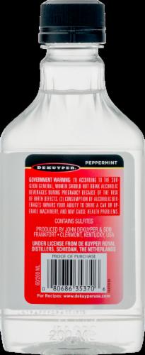 DeKuyper Peppermint Schnapps Liqueur Perspective: back