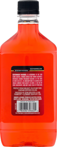 DeKuyper Watermelon Pucker Liqueur Perspective: back