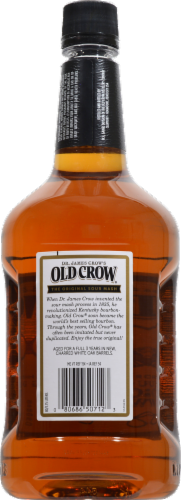 Old Crow Kentucky Straight Bourbon Whiskey Perspective: back