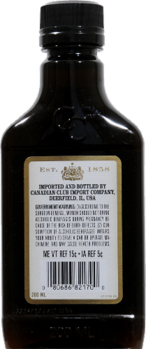 Canadian Club 1858 Premium Extra Aged Blended Canadian Whisky Perspective: back