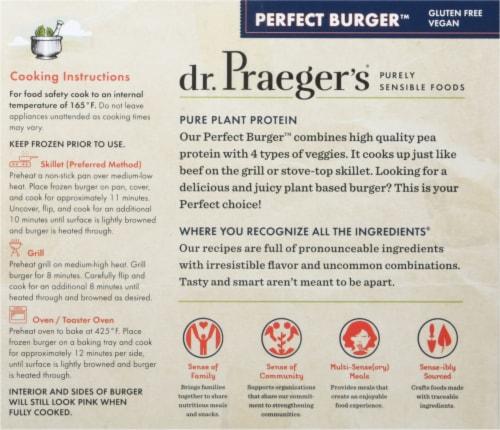 Dr. Praeger's Meatless Perfect Burger Perspective: back