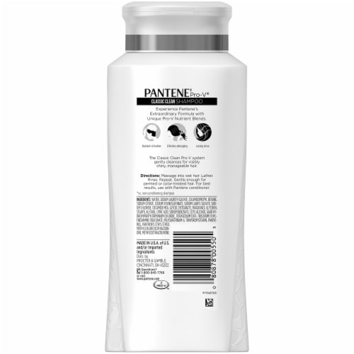 Pantene Pro-V Classic Clean Shampoo Perspective: back