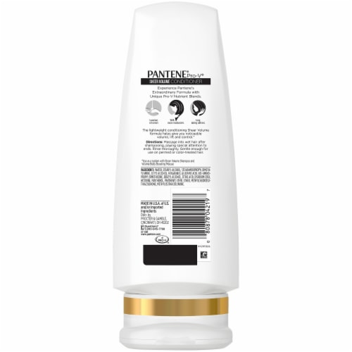 Pantene Pro-V Sheer Volume Conditioner Perspective: back