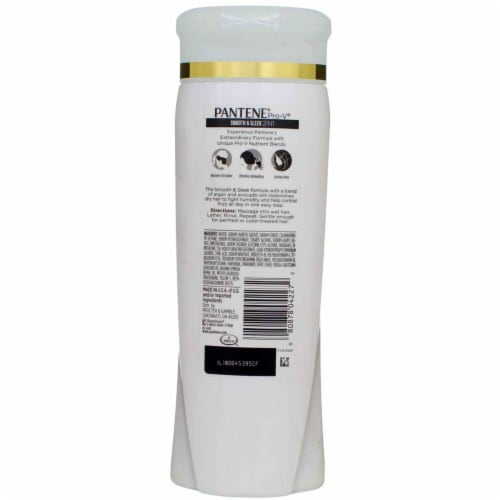 Pantene ProV Smooth and Sleek 2 in 1 Shampoo and Conditioner 12.6 oz Perspective: back