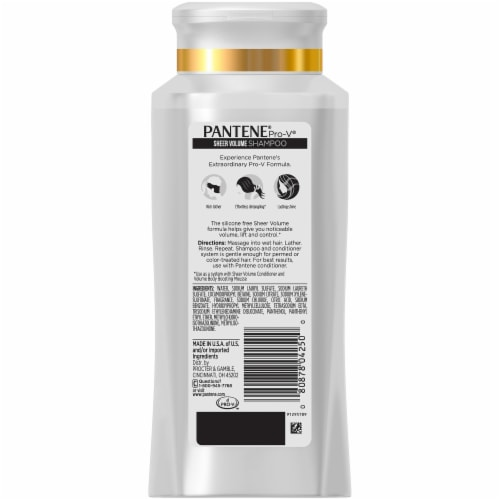 Pantene Pro-V Sheer Volume Shampoo Perspective: back
