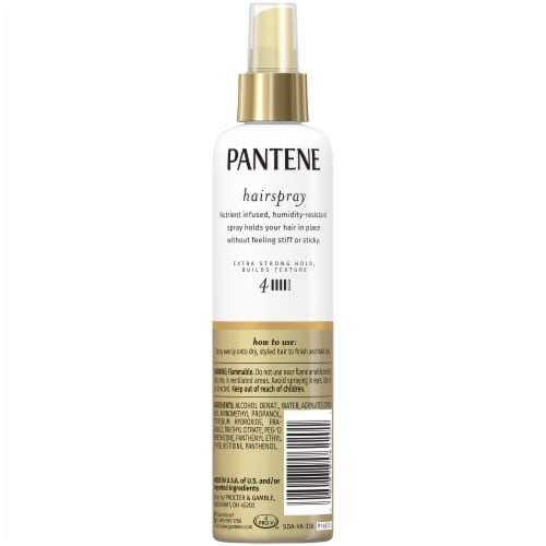 Pantene Pro-V Level 4 Extra Strong Hold Texture-Building Non-Aerosol Hairspray Perspective: back